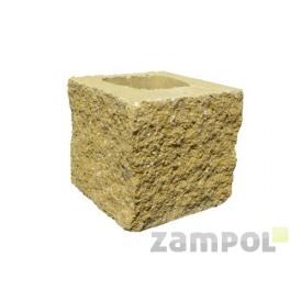 Pustak betonowy elewacyjny trzystronnie łupany PBE-19-2 N 1/2
