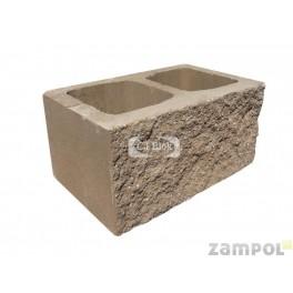 Pustak betonowy elewacyjny jednostronnie łupany PBE-24-1