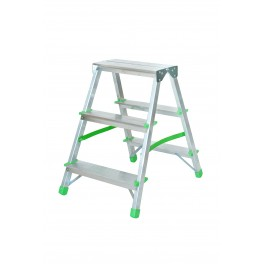 Drabina aluminiowa domowa - 2x4 stopniowa