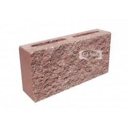 Pustak betonowy elewacyjny jednostronnie łupany PBE-9-1